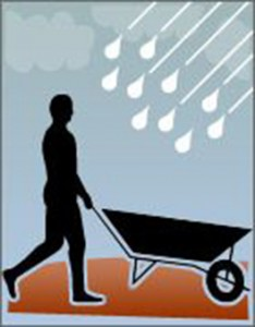 obra na chuva